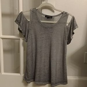 Cute cold shoulder top. Girls 14 large. EUC